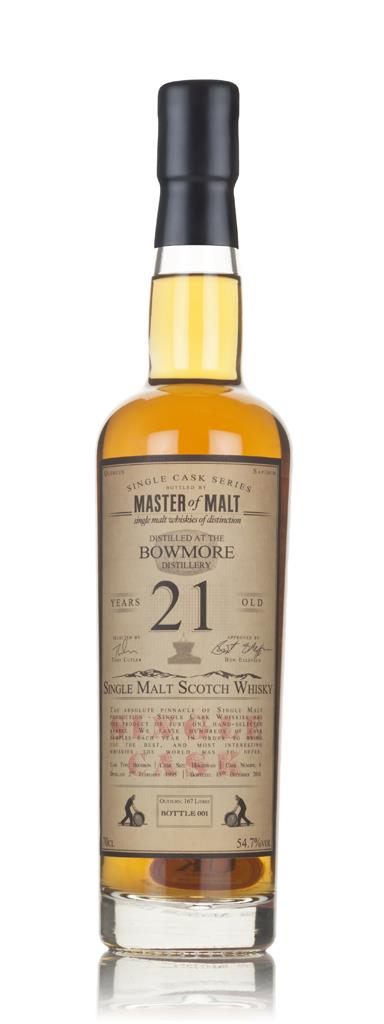 Bowmore 21 Year Old 1995 - Single Cask (Master of Malt) 3cl Sample Single Malt Whisky