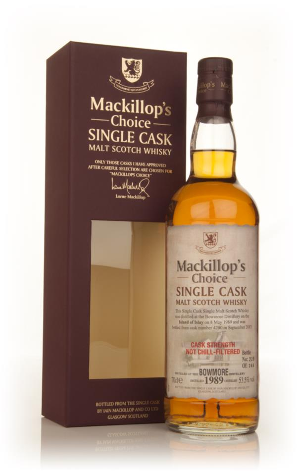 Bowmore 24 Year Old 1989 (cask 4290) - Mackillops Choice 3cl Sample Single Malt Whisky