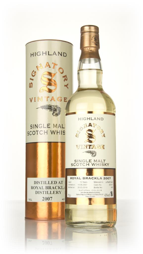 Royal Brackla 10 Year Old 2007 (cask 307917) - Signatory Single Malt Whisky