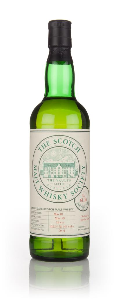 SMWS No. 61.10 18 Year Old 1981 (Bottled 1999) 3cl Sample Single Malt Whisky