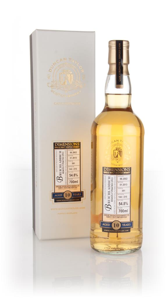 Bruichladdich Heavily Peated 10 Year Old 2002 (cask 391) - Dimensions Single Malt Whisky 3cl Sample