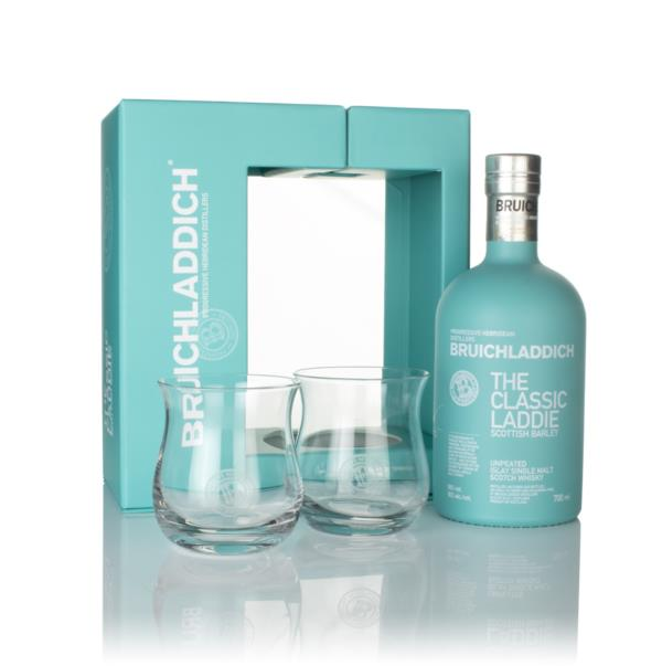 Bruichladdich The Classic Laddie Gift Pack with 2x Glasses Single Malt Whisky