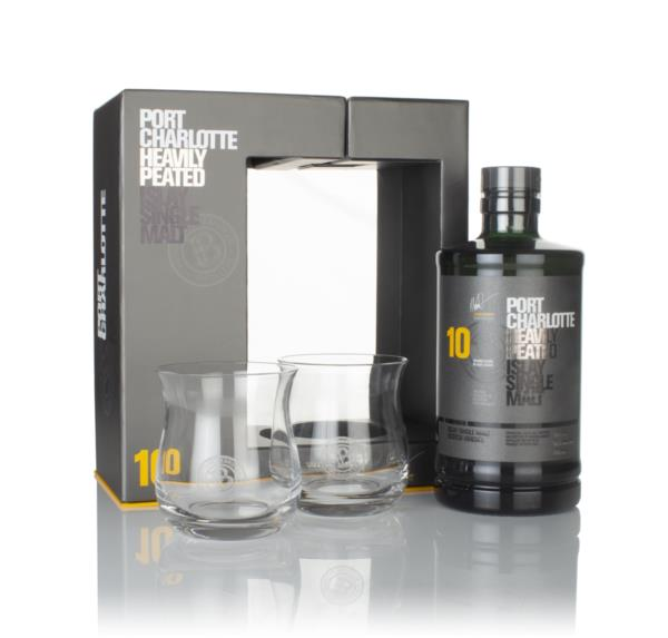 Port Charlotte 10 Year Old Gift Pack with 2x Glasses Single Malt Whisky