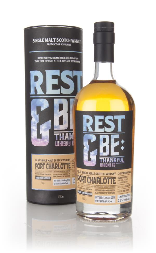 Port Charlotte 13 Year Old 2001 (cask R091600007) (Rest & Be Thankful) Single Malt Whisky 3cl Sample