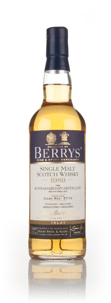 Bunnahabhain 24 Year Old 1989 (cask 5716) (Berry Bros. & Rudd) 3cl Sam Single Malt Whisky 3cl Sample