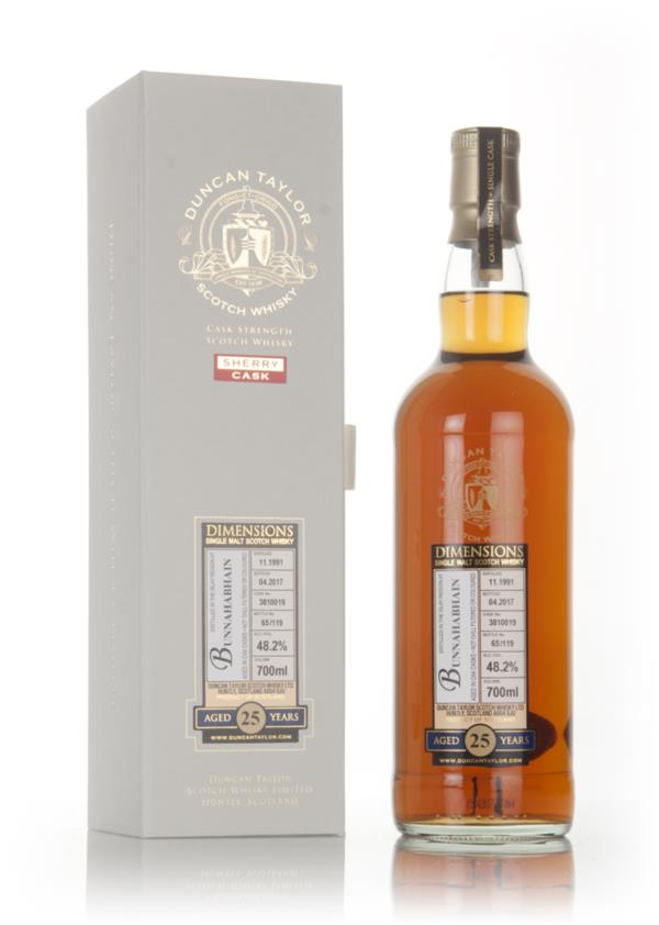 Bunnahabhain 25 Year Old 1991 (cask 3810019) - Dimensions (Duncan Tayl Single Malt Whisky