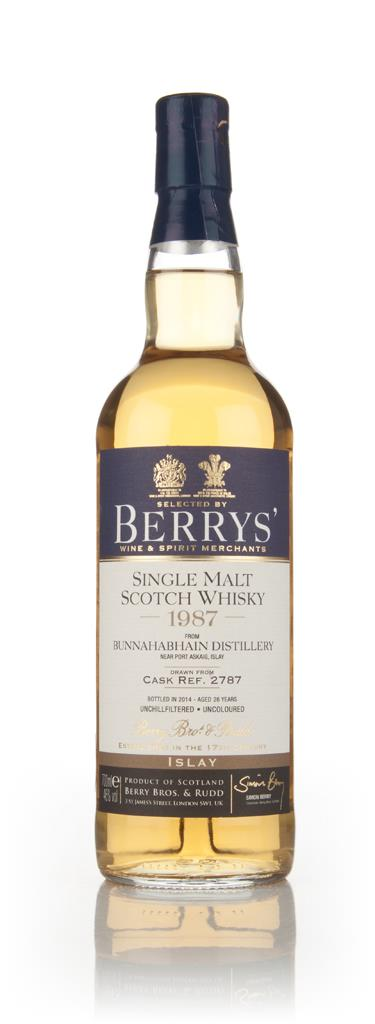 Bunnahabhain 26 Year Old 1987 (cask 2787) - (Berry Bros. & Rudd) 3cl S Single Malt Whisky 3cl Sample