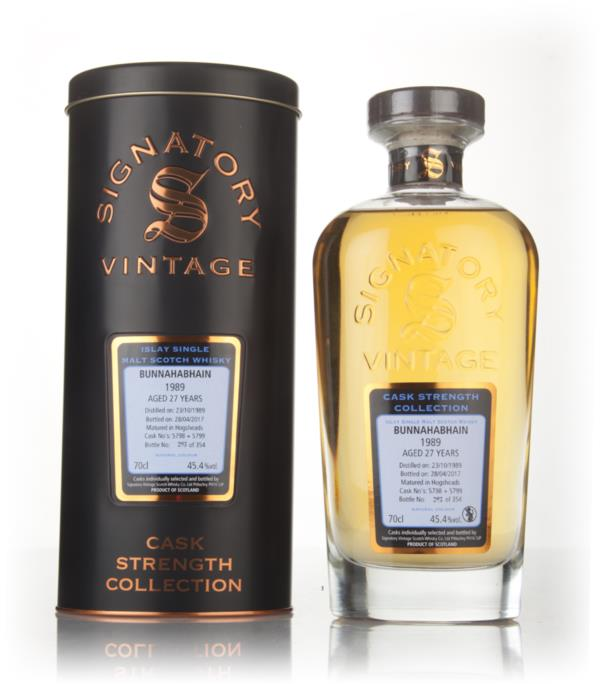 Bunnahabhain 27 Year Old 1989 (casks 5798 & 5799) - Cask Strength Coll Single Malt Whisky 3cl Sample