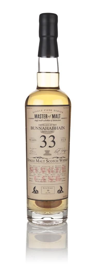 Bunnahabhain 33 Year Old 1982 - Single Cask (Master of Malt) 3cl Sampl Single Malt Whisky 3cl Sample