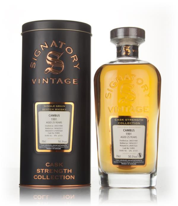 Cambus 25 Year Old 1991 (cask 55893) - Cask Strength Collection (Signa Grain Whisky