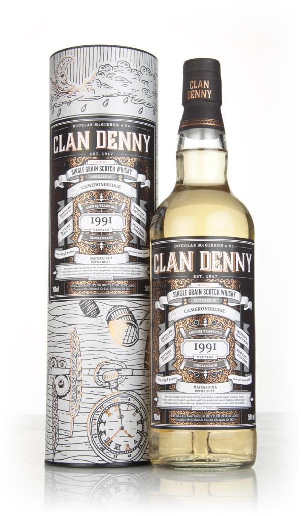 Cameronbridge 25 Year Old 1991 (cask 12086) - Clan Denny (Douglas Lain Grain Whisky