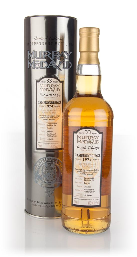 Cameronbridge 33 Year Old 1974 (Murray McDavid) 3cl Sample Grain Whisky