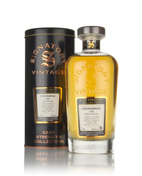 Cameronbridge 34 Year Old 1984 (cask 19307) - Cask Strength Collection Grain Whisky