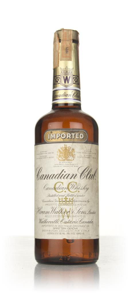 Canadian Club Whisky - 1971 Blended Whisky