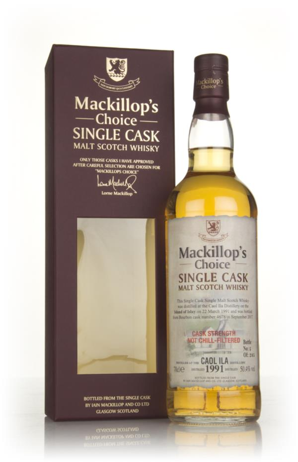 Caol Ila 26 Year Old 1991 (cask 4678) - Mackillops Choice Single Malt Whisky