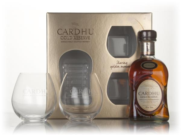 Cardhu Gold Reserve Gift Pack with 2x Glasses Single Malt Whisky