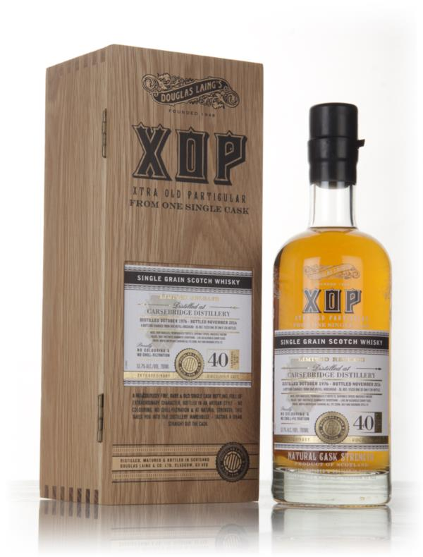 Carsebridge 40 Year Old 1976 (cask 11529) - Xtra Old Particular (Dougl Grain Whisky 3cl Sample