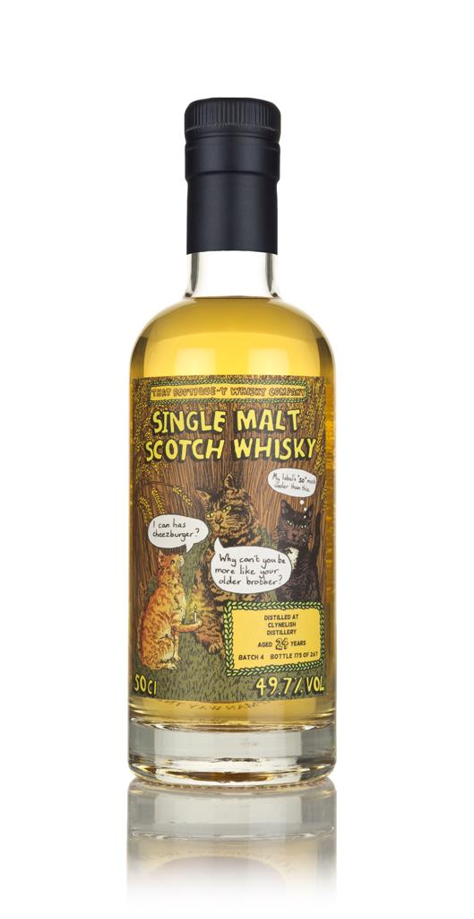 Clynelish 24 Year Old - Batch 4 (That Boutique-y Whisky Company) 3cl S Single Malt Whisky 3cl Sample