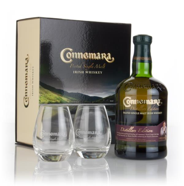 Connemara Distillers Edition with 2x Glasses Single Malt Whiskey