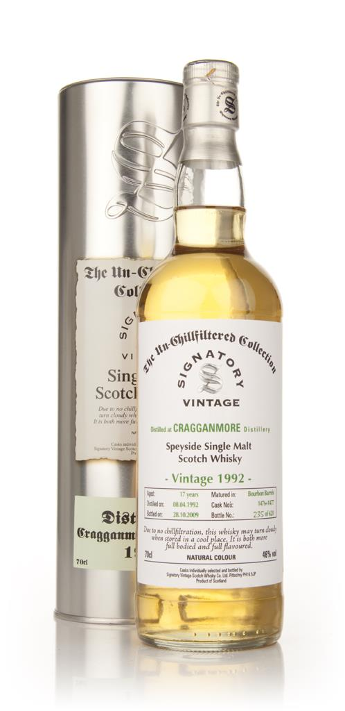 Cragganmore 17 Year Old 1992 - Un-Chillfiltered (Signatory) Single Malt Whisky