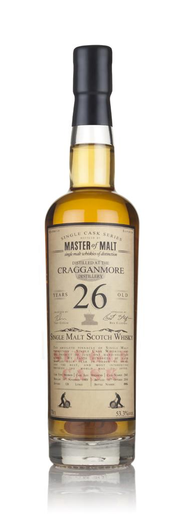 Cragganmore 26 Year Old 1989 - Single Cask (Master of Malt) 3cl Sample Single Malt Whisky