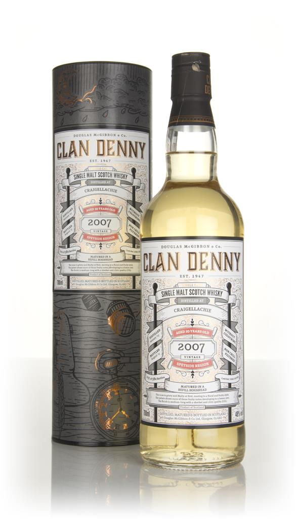 Craigellachie 10 Year Old 2007 (cask 12063) - Clan Denny (Douglas Lain Single Malt Whisky