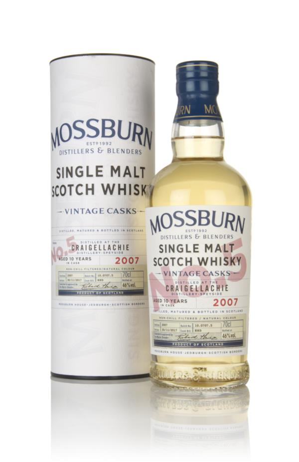 Craigellachie 10 Year Old 2007 - Vintage Casks (Mossburn) Single Malt Whisky