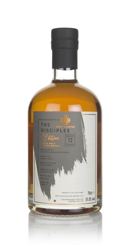 Craigellachie 12 Year Old 2007 (cask 900777) - The Disciples (Heroes & Single Malt Whisky