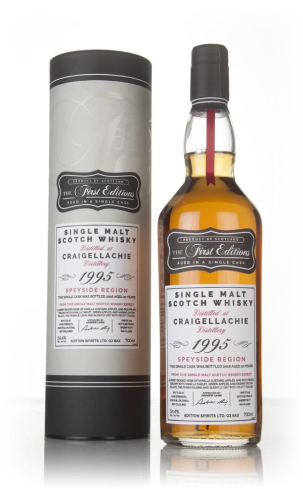 Craigellachie 20 Year Old 1995 (cask 12362) - The First Editions (Hunt Single Malt Whisky