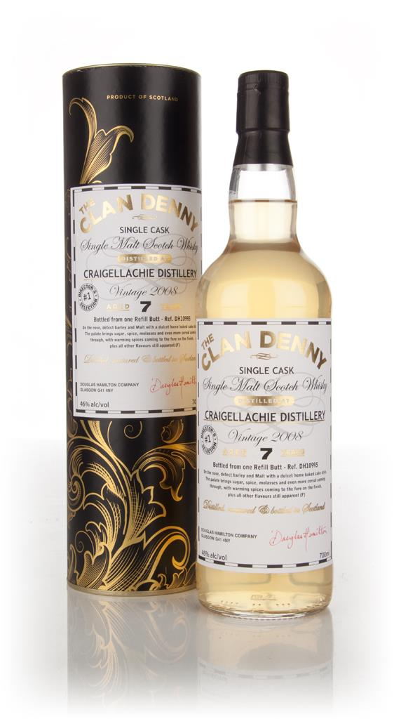 Craigellachie 7 Year Old 2008 (cask 10995) - The Clan Denny (Douglas L Single Malt Whisky