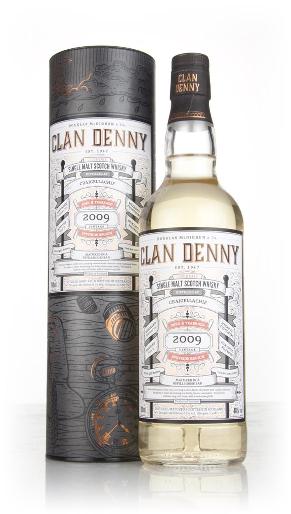 Craigellachie 8 Year Old 2009 (cask 11890) - Clan Denny (Douglas Laing Single Malt Whisky