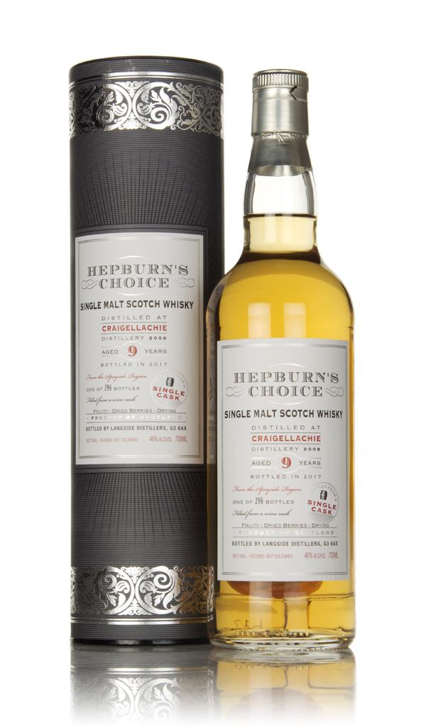 Craigellachie 9 Year Old 2008 - Hepburns Choice (Langside) Single Malt Whisky
