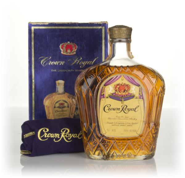 Crown Royal Canadian Whisky - 1977 Blended Whisky