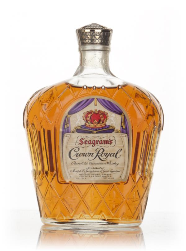 Seagrams Crown Royal Canadian Whisky - 1970s Blended Whisky