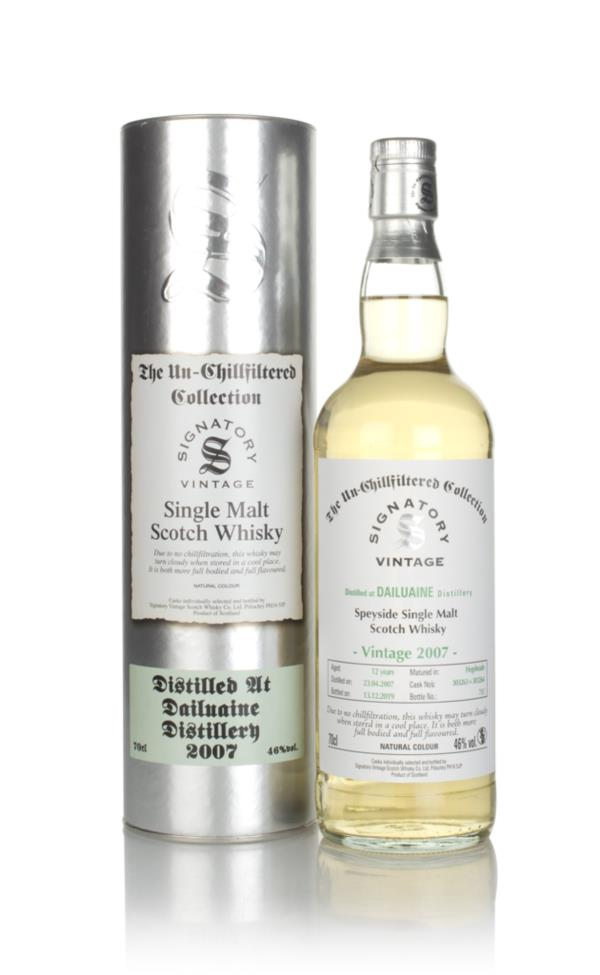 Dailuaine 12 Year Old 2007 (cask 303263 & 303264) - Un-Chillfiltered C Single Malt Whisky