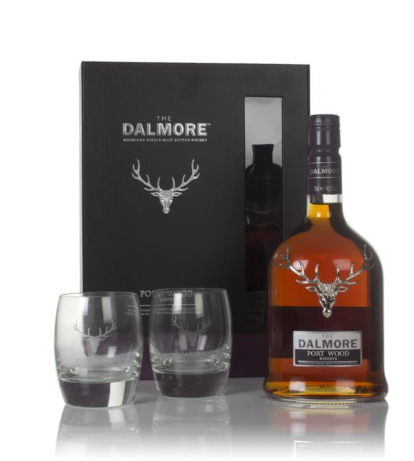 Dalmore Port Wood Reserve Gift Pack with 2x Glasses Single Malt Whisky