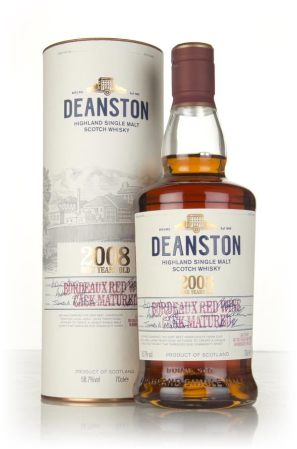 Deanston 9 Year Old 2008 - Bordeaux Red Wine Cask Matured Single Malt Whisky