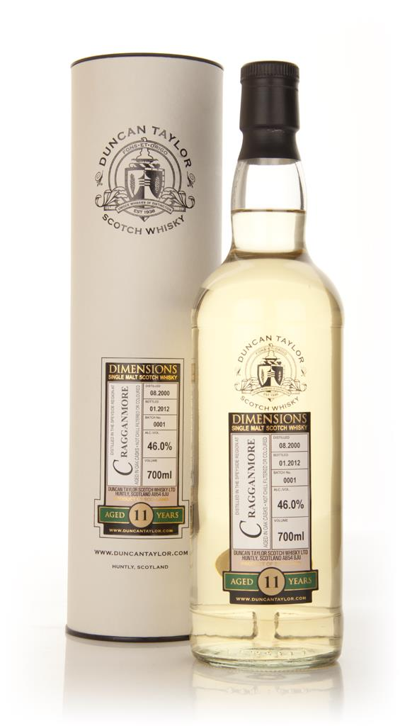 Cragganmore  11 Year Old 2000 - Dimensions (Duncan Taylor) 3cl Sample Single Malt Whisky