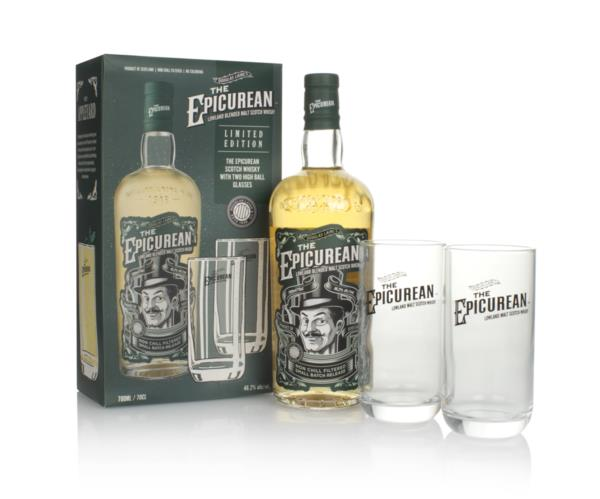 The Epicurean Gift Pack with 2x Glasses Blended Malt Whisky