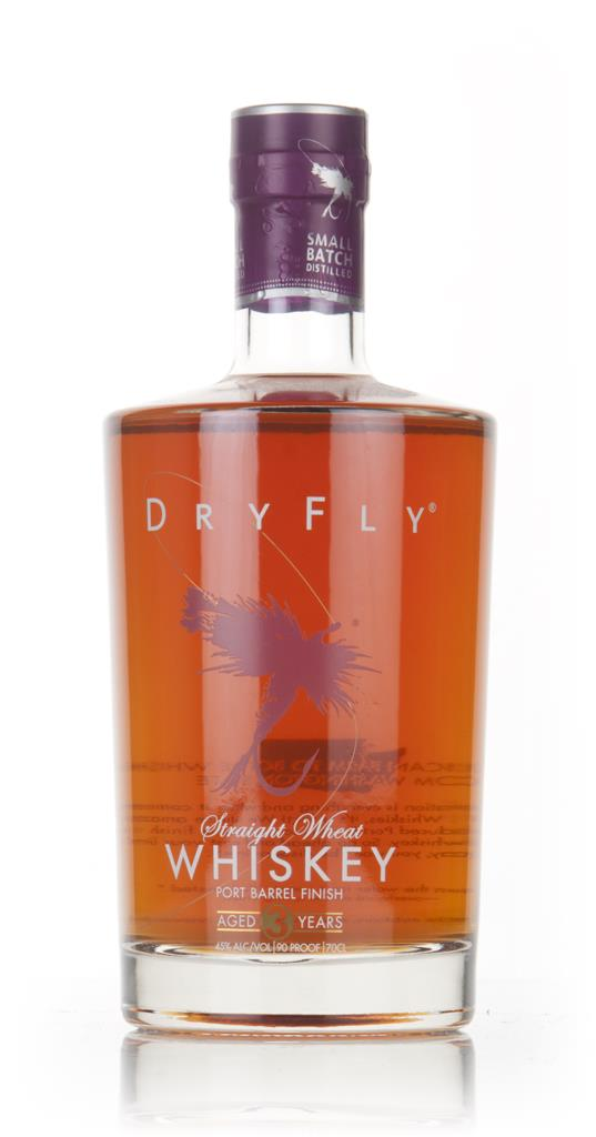 Dry Fly 3 Year Old Wheat Whiskey - Fortified Wine Barrel Finish Wheat Whiskey