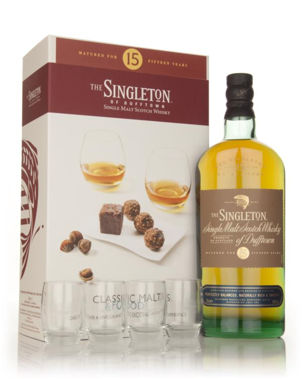 Singleton of Dufftown 15 Year Old - Classic Malts & Food Gift Set with Single Malt Whisky