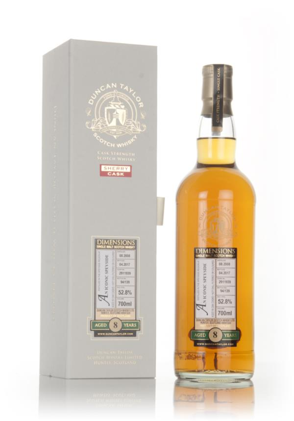 An Iconic Speyside 8 Year Old 2008 (cask 2911939) - Dimensions (Duncan Single Malt Whisky