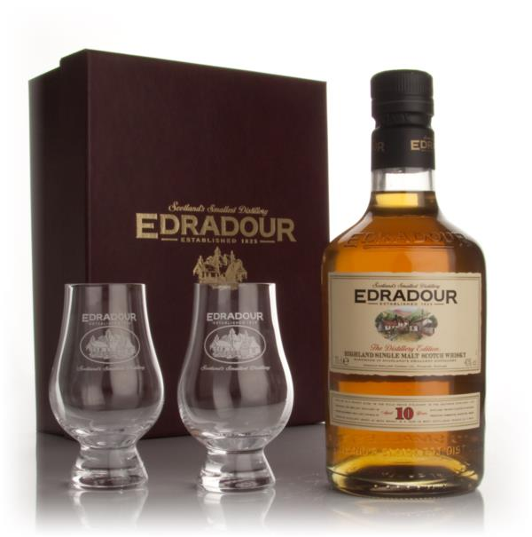 Edradour 10 Year Old with 2x Glasses Single Malt Whisky