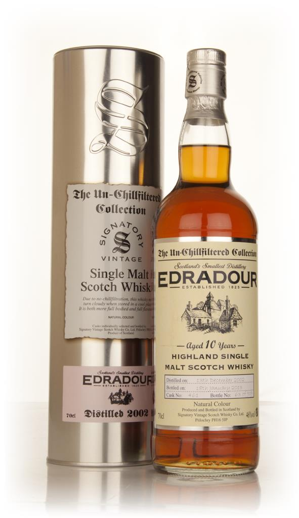 Edradour 10 Year Old 2002 (cask 461) - Un-Chillfiltered (Signatory) Single Malt Whisky