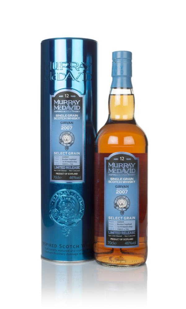 Girvan 12 Year Old 2007 (casks 700015 & 15A) - Select Grain (Murray Mc Grain Whisky