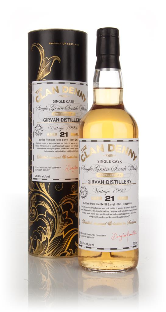 Girvan 21 Year Old 1993 (cask 10998) - The Clan Denny (Douglas Laing) Grain Whisky