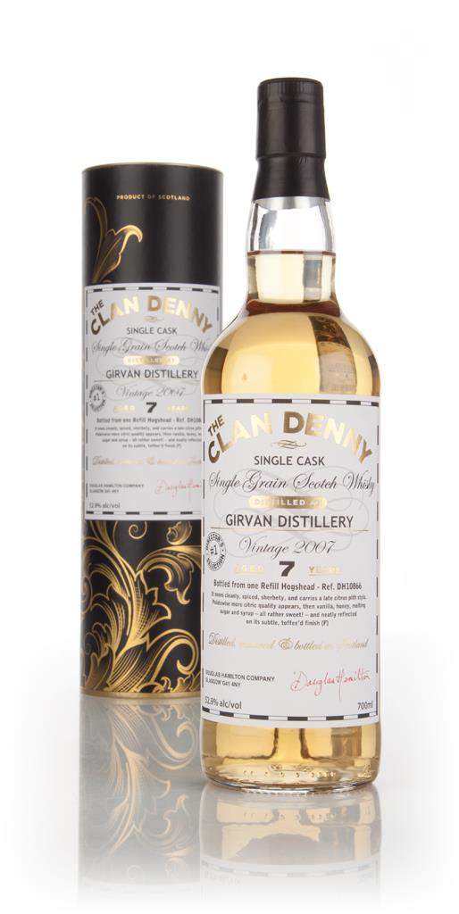 Girvan 7 Year Old 2007 (cask 10866) - The Clan Denny  (Douglas Laing) Grain Whisky