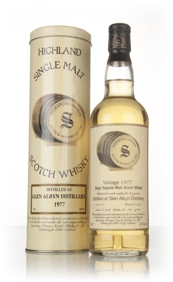 Glen Albyn 20 Year Old 1977 (cask 1958) - Signatory Vintage Single Malt Whisky