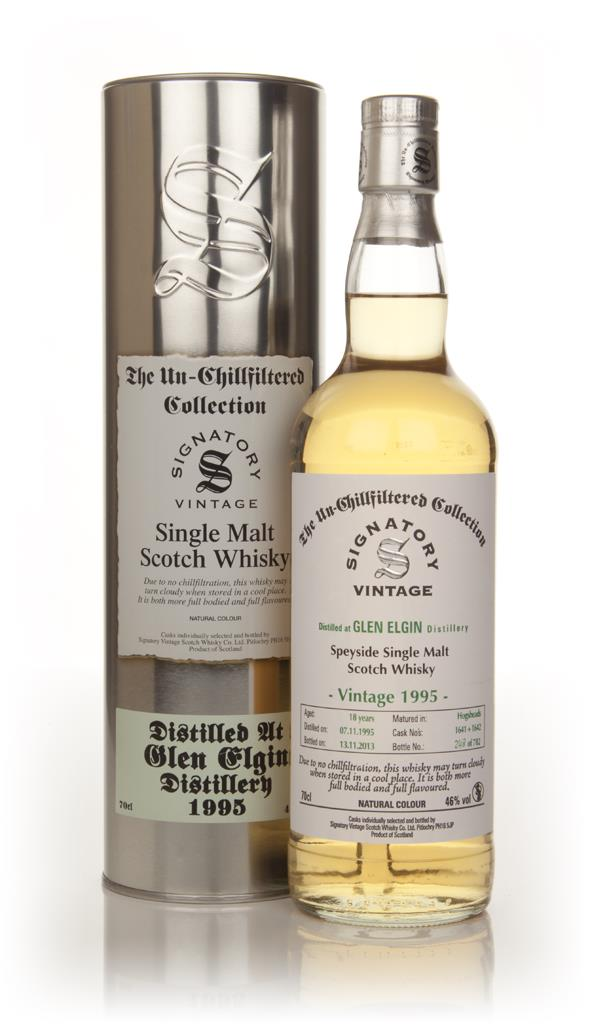 Glen Elgin 18 Year Old 1995 (casks 1641+1642) - Un-Chillfiltered (Sign Single Malt Whisky