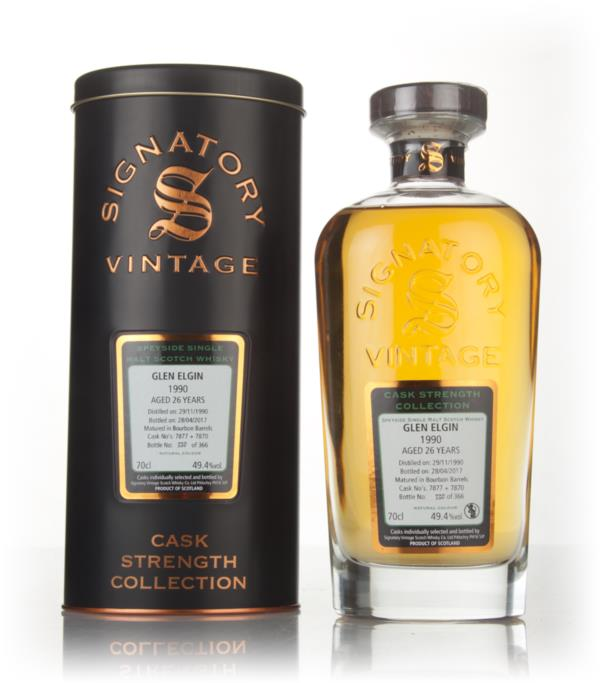 Glen Elgin 26 Year Old 1990 (asks 7877 & 7870) - Cask Strength Collect Single Malt Whisky